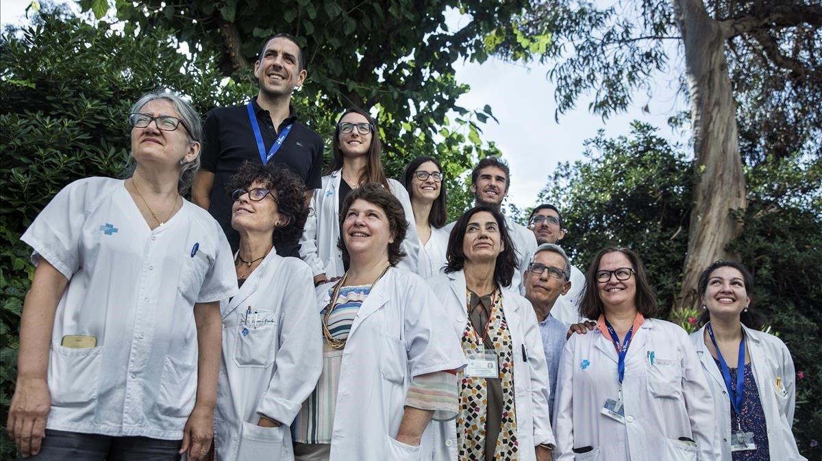 Los profesionalesdel comité multidisciplinar de sarcomas del Hospital Vall dHebron, centro de referencia en este tipo de cáncer.