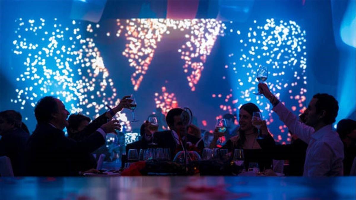 Celebración de la Nochevieja en el Hotel W.