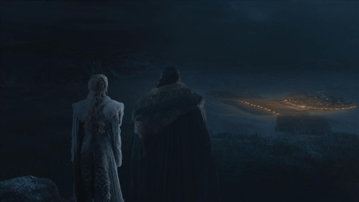 Imagen del episodio de la gran batalla contra los Caminantes Blancos de la serie 'Juego de tronos'.