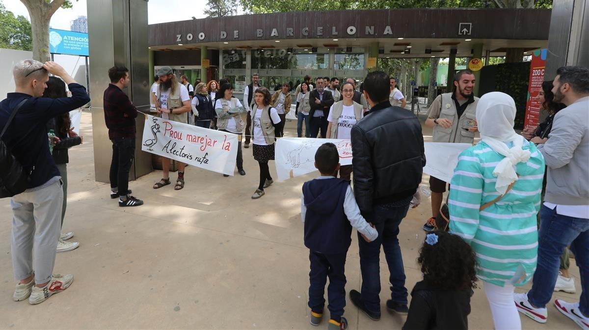 El Zoo va a la vaga inquiet pel seu futur