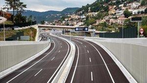 Aspecto de la nueva variante de Vallirana, en la carretera N-340, el pasado jueves.