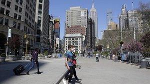 Nova York guanya espai per als vianants i ciclistes