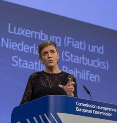 La comisaria de Competencia Margrethe Vestager, ayer en Bruselas.