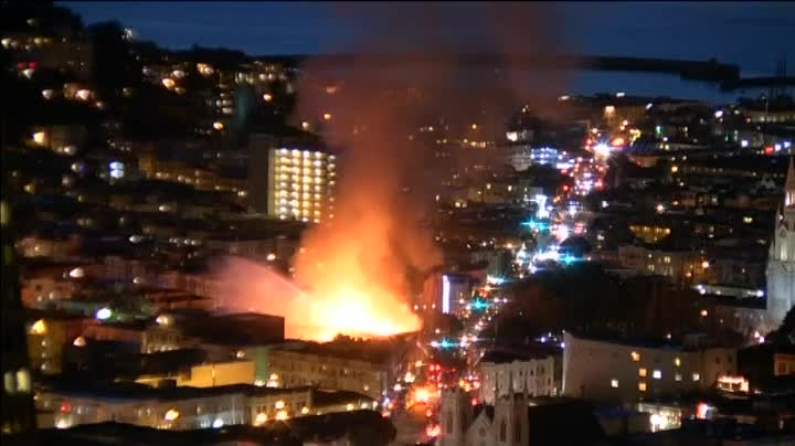 Espectacular incendio en San Francisco
