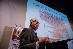 Roberto Briceno Leondirector de la ONG Observatorio Venezolano de ViolenciaOVVpresente su informe anual sobre la cantidad de homicidios en el paisen CaracasVenezuela.EFEMiguel Gutierrez