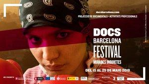 Cartel del festival de filmes documentales DocsBarcelona.