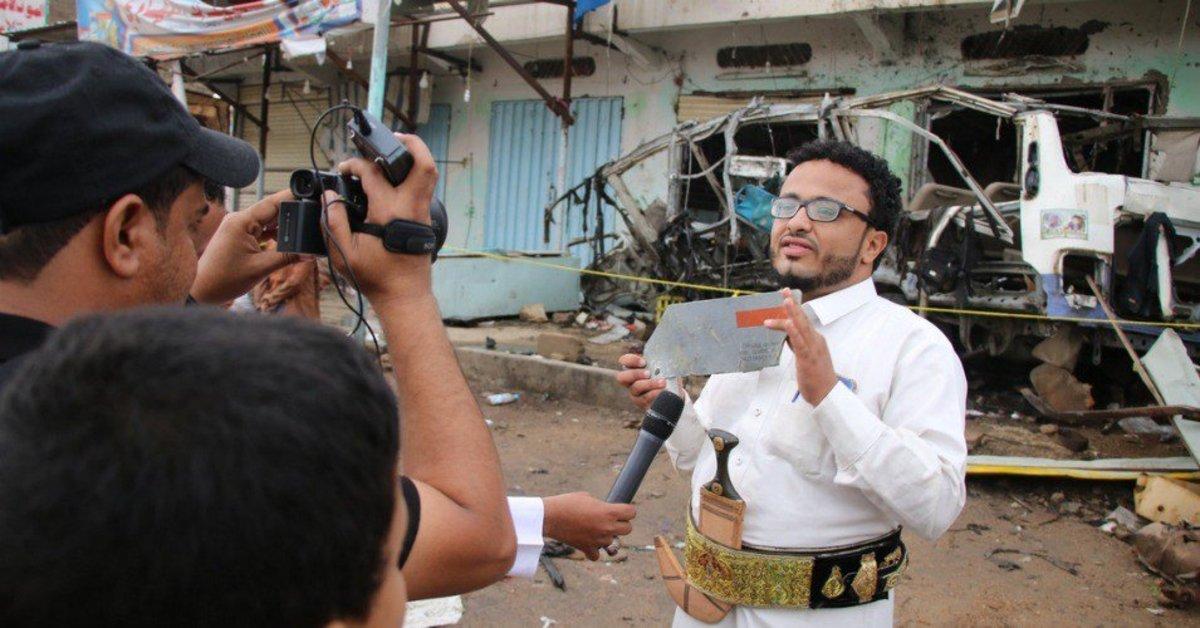 Ahmad Algohbary , ataviado con el traje típico de su país con la jambiya (dagaornamental), informa desde Saná, la capital del Yemen.