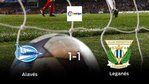 El Alavésy el Leganésse reparten los puntos en el Estadio de Mendizorroza (1-1)