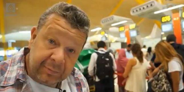 Alberto Chicote en Barajas, durante el programa El precio de los alimentos.
