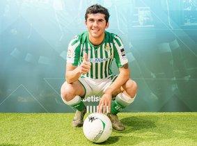 Carlos Aleñá, con el uniforme del Betis.