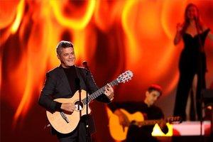 Alejandro Sanz en uno de sus conciertos.