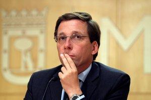 El alcalde de Madrid, José Luis Martínez-Almeida, tras la primera reunión de la Junta de Gobierno del Ayuntamiento.