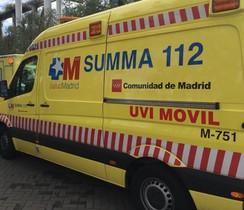 Una ambulancia de Emergencias de la Comunidad de Madrid.
