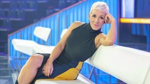 La cantante Ana Torroja, en el plató del talent OT (TVE-1).