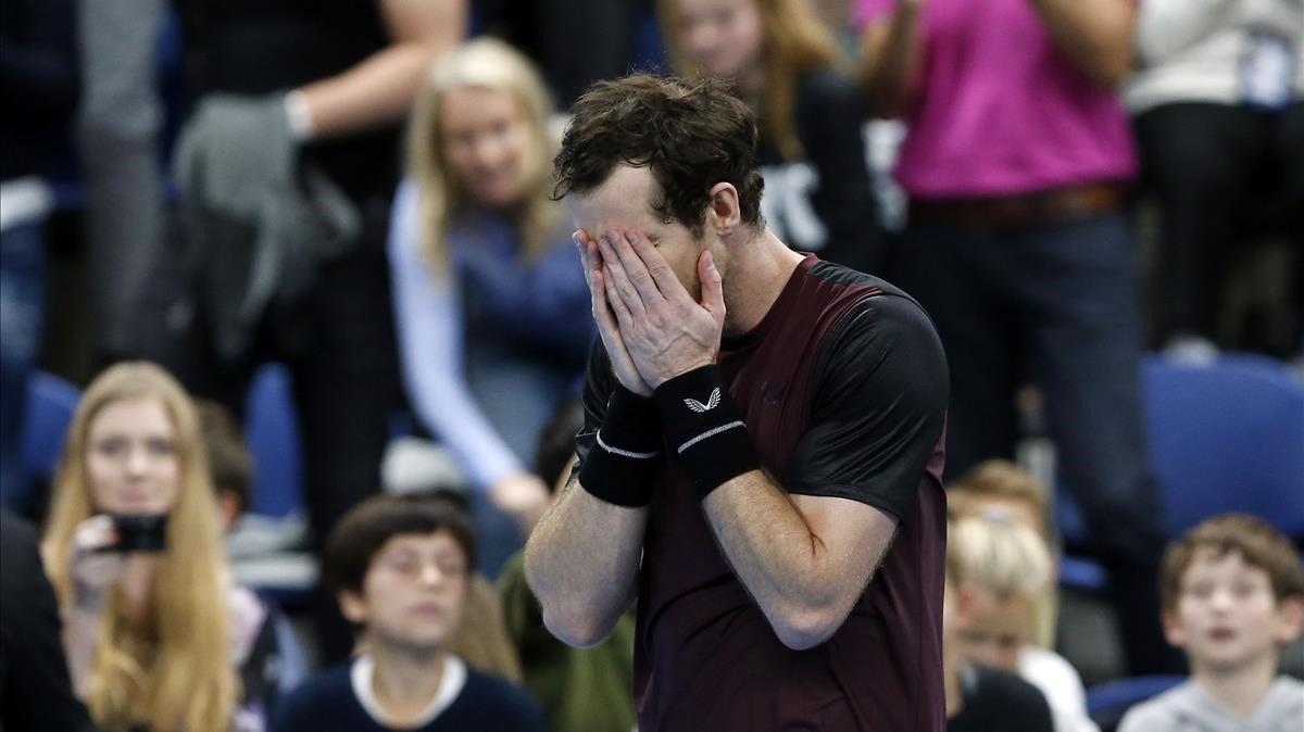 Andy Murray, emocionado tras ganar la final en Amberes.
