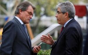 Artur Mas con Francesc Homs.