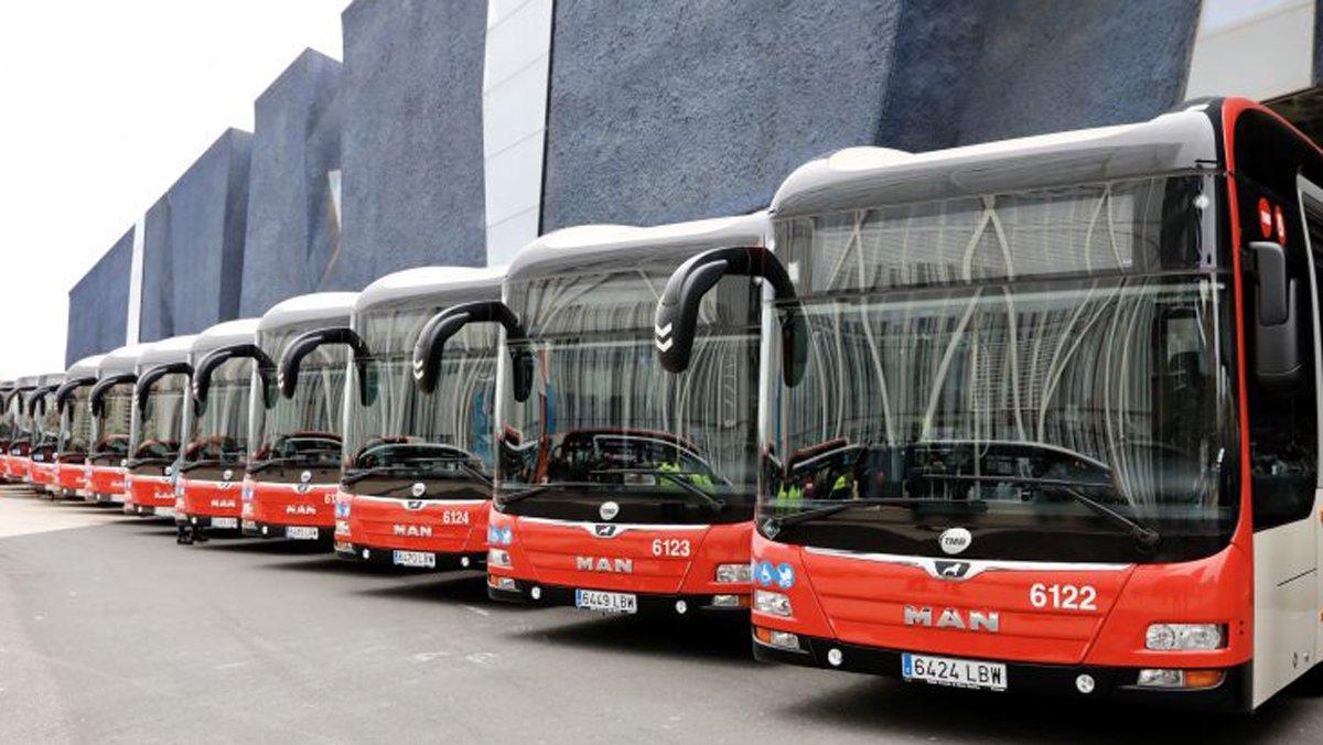 Autobuses de la flota de Barcelona.