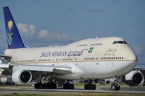 Un avión de la compañía saudí.