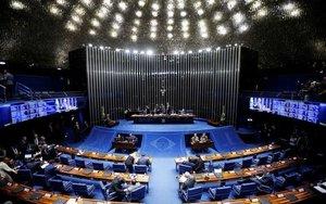 El Senado de Brasil durante una jornada detrabajo.