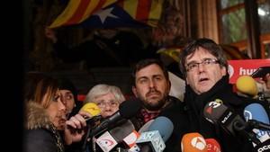 Carles Puigdemont, en Bélgica.