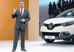 Carlos Ghosn, consejero delegado de Renault y de Nissan, en Ginebra (Suiza) en el 2013.