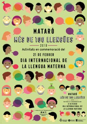 Cartell de la celebraciódel Dia Mundial de la Llengua Materna a Mataró.