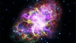 Imagen de la Nebulosa del Cangrejo, obtenida combinando datos de telescopios que abarcan casi todo el espectro electromagnético