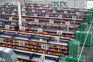 La 'colmena' de Mercadona para el supermercado online en Valencia.