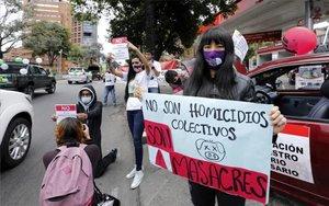 Protestas en Colombia por las masacres.
