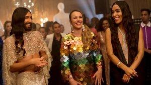 Conchita Wurst, Rachel McAdams y Loreen, en un fotograma de 'Eurovisión: La historia de Fire Saga'