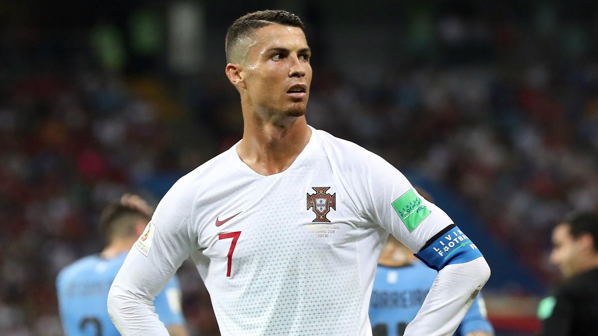 Cristiano Ronaldo en el Uruguay-Portugal.