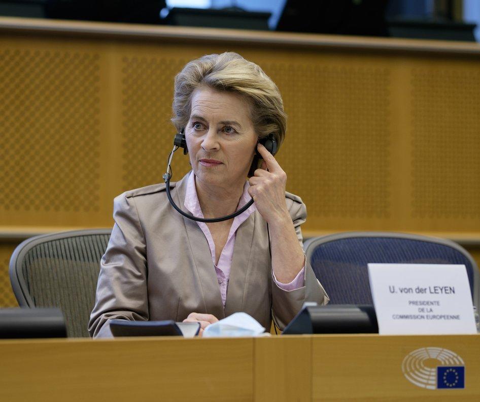 La presidenta de la Comisión Europea, Ursula von der Leyen, el pasado 23 de junio.