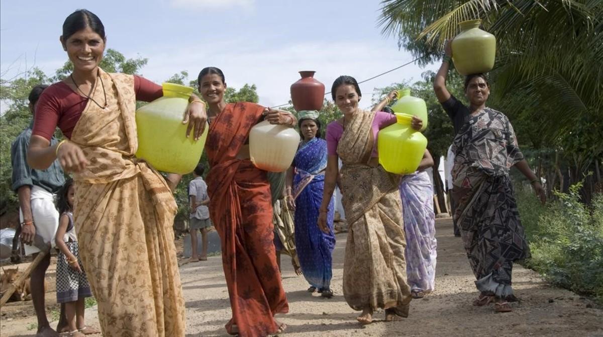 El día a día de las mujeres en la India.