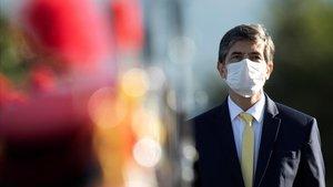 El dimitido ministro de Salud de Brasil, Nelsol Teich, en un acto el pasado martes.