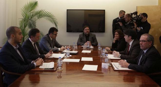 Junqueras preside la reunión con los presidentes de diputaciones.