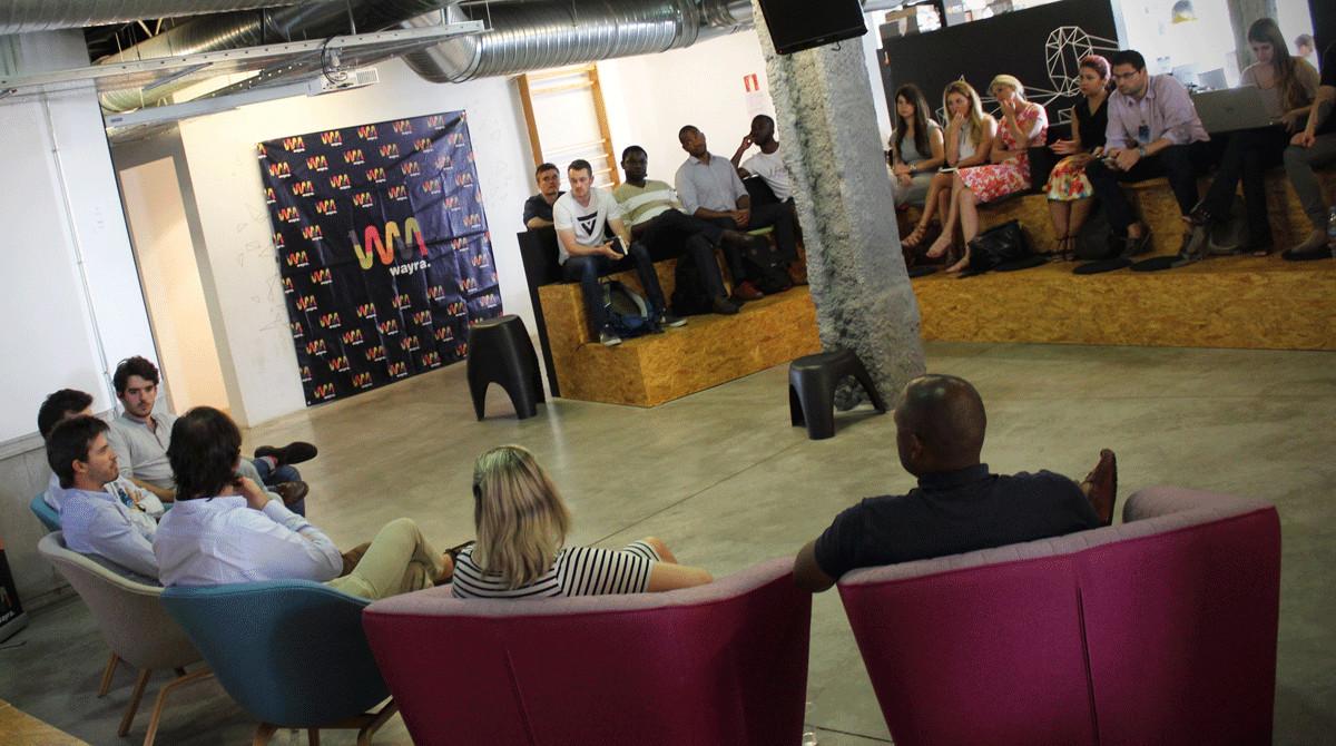 Encuentro entre emprendedores e inversores organizado por la red de aceleradoras Wayra.