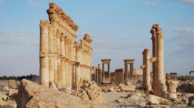 Imagen de una de las ruinas de Palmira.
