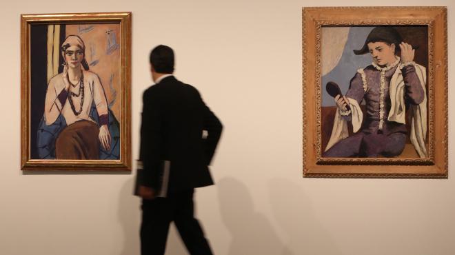 Exposición Un Thyssen nunca visto, la muestra que exhibe en CaixaForum 63 obras maestras de la pinacoteca madrileña.