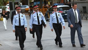 Ferran López, Josep Lluís Trapero y Juan Carlos Molinero acuden a declarar a la Audiencia Nacional, en octubre del año pasado.