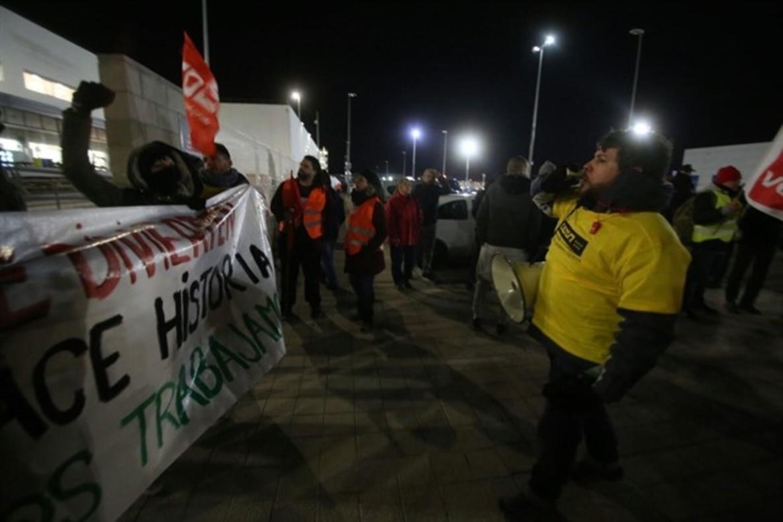Huelga de trabajadores de Amazon.