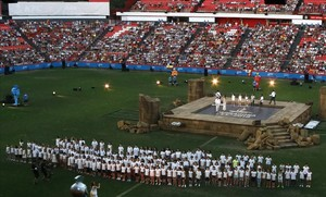 Gala inaugural de los Juegos del Mediterráneoen Tarragona, el 22 de junio del 2018.