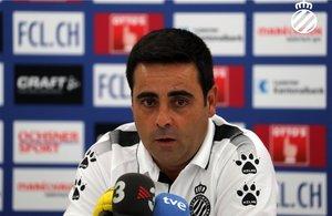 Gallego, en la rueda de prensa de este miércoles en Suiza.