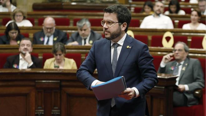 El Govern vincula el control de sus cuentas a su ideología independentista, ha dicho hoy Pere Aragonés en declaraciones a Catalunya Ràdio.