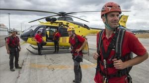 Equipo de rescate de los bomberos GRAE