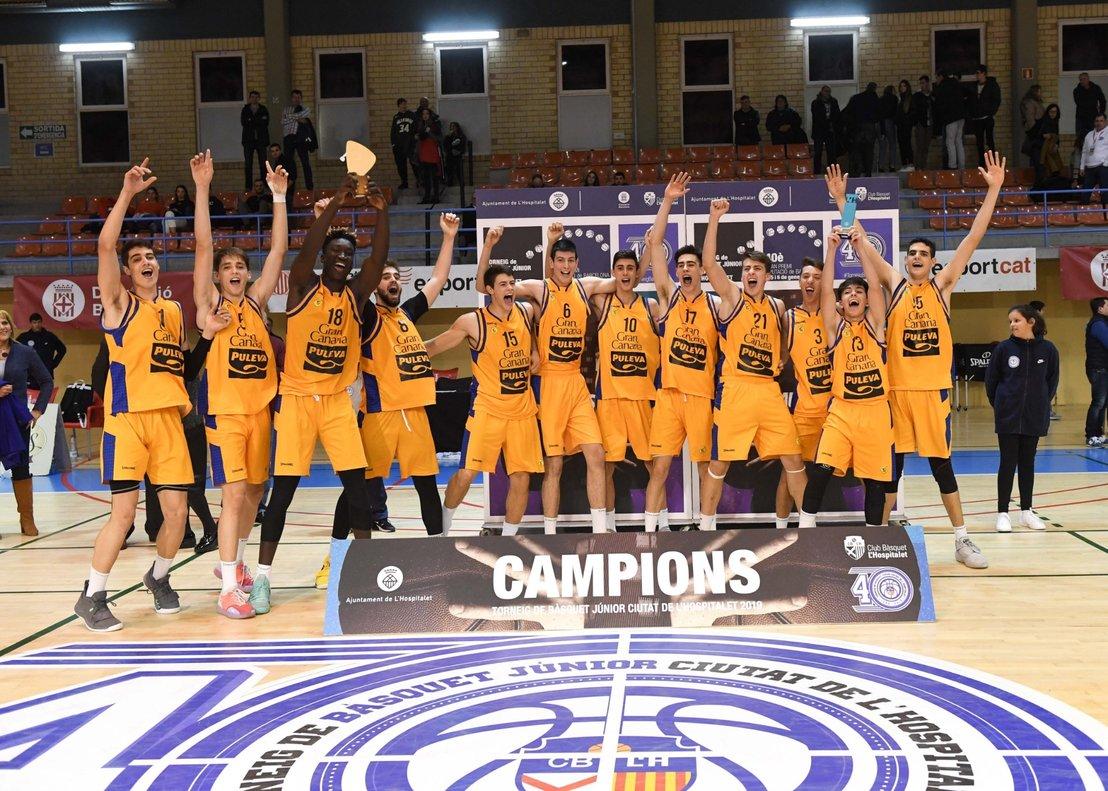 El CB Gran Canaria se proclama campeón del 40 Torneo Internacional Júnior de LHospitalet