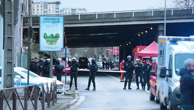 Despliegue policial en la zona donde se ha producido el ataque.