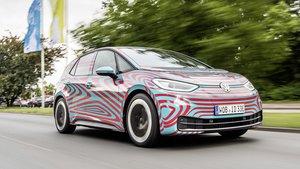 El nuevo Volkswagen ID.3 en una jornada de pruebas.