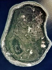 Imagen captada por un satélite de la isla de Nauru.