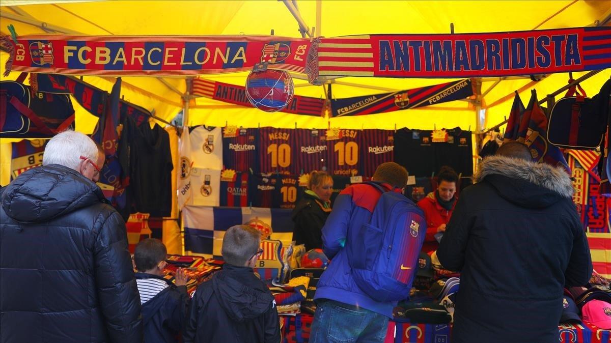 Imagen de los aledaños del Camp Nou.