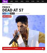 Imagen de la web TMZ, con la exclusiva de la muerte de Prince.